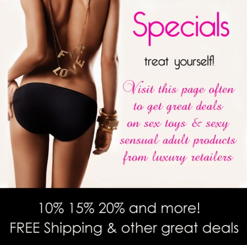 specials on sale sex toys and luxury products